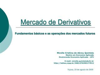 Mercado de Derivativos