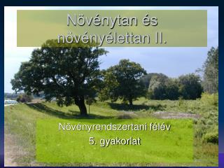 Növénytan és növényélettan II.