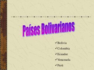 Países Bolivarianos