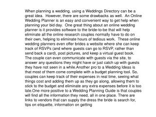 When planning a wedding