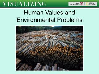 Human Values and  Environmental Problems