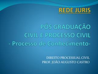 REDE JURIS PÓS GRADUAÇÃO CIVIL E PROCESSO CIVIL - Processo de Conhecimento-