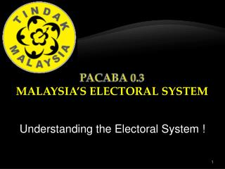 Understanding the Electoral System !