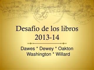 Desafío de los libros 2013-14