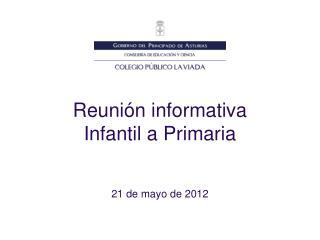 Reunión informativa Infantil a Primaria
