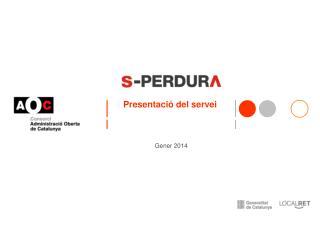 Presentació del servei