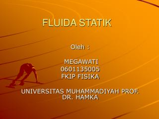 FLUIDA STATIK