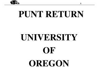 PUNT RETURN