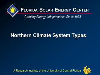 Northern Climate System Types