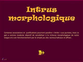 Intrus morphologique