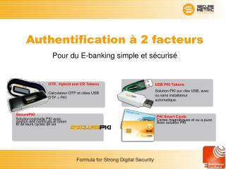 Authentification à 2 facteurs Pour du E-banking simple et sécurisé
