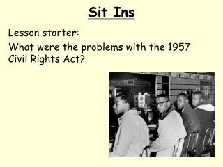 Sit Ins