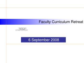 Faculty Curriculum Retreat