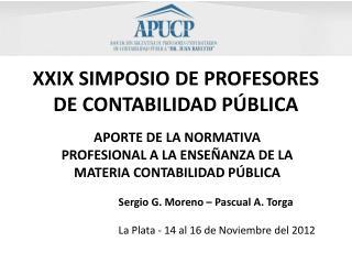 XXIX SIMPOSIO DE PROFESORES DE CONTABILIDAD PÚBLICA
