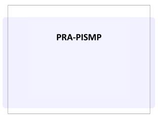 PRA-PISMP