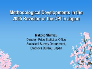 Methodological Developments in the 2005 Revision of the CPI in Japan