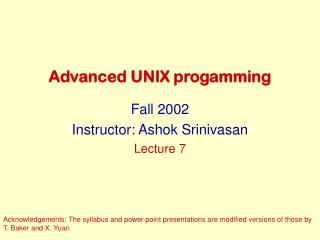Advanced UNIX progamming