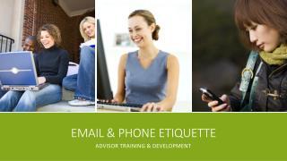 Email & Phone Etiquette