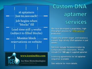 Custom DNA  aptamer  services