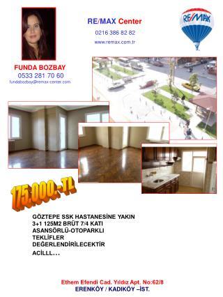 FUNDA BOZBAY 0533 281 70 60 fundabozbay@remax-center