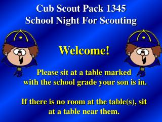 Cub Scout Pack 1345 School Night For Scouting