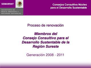 Proceso de renovaci n  Miembros del  Consejo Consultivo para el  Desarrollo Sustentable de la  Regi n Sureste  Generaci