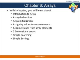 Chapter 6: Arrays
