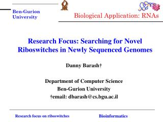 Research Focus: Searching for Novel Riboswitches in Newly Sequenced Genomes