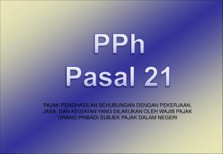 PPh Pasal 21