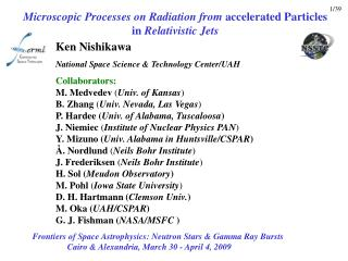 Microscopic Processes on Radiation from  accelerated Particles in  Relativistic Jets
