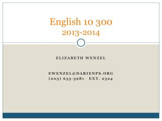 English 10 300 2013-2014
