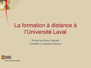 La formation à distance à l'Université Laval