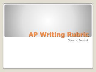 AP Writing Rubric