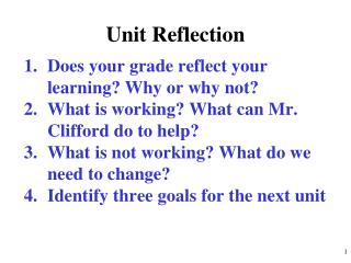 Unit Reflection