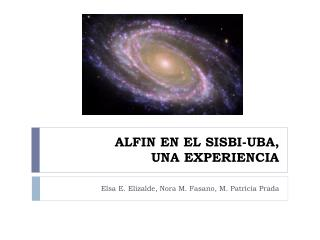 ALFIN EN EL SISBI-UBA,  UNA EXPERIENCIA