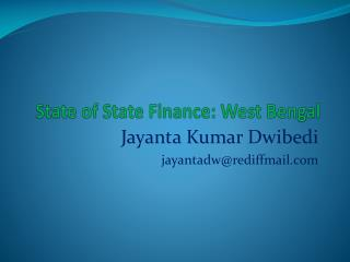 State of State Finance: West Bengal