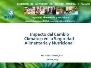 Impacto del Cambio Climático en la Seguridad Alimentaria y Nutricional