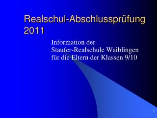 Realschul-Abschlusspr fung 2011