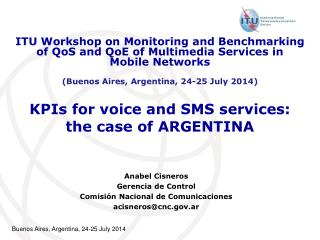 ​KPIs for voice and SMS services: the case of ARGENTINA