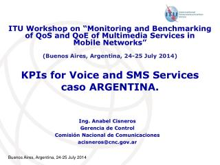 ​ KPIs for Voice and SMS Services caso ARGENTINA.