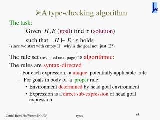 A type-checking algorithm