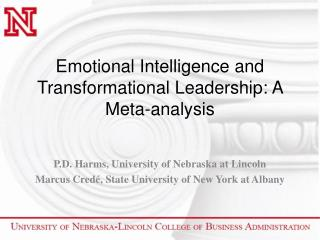 Emotional Intelligence and Transformational Leadership: A Meta-analysis