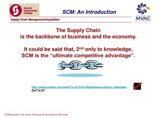 The Supply Chain  is the backbone of business and the economy.