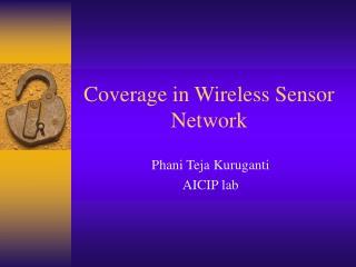 Coverage in Wireless Sensor Network