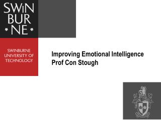 Improving Emotional Intelligence  Prof Con Stough