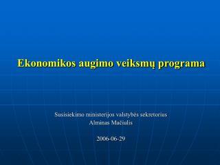 Ekonomikos augimo veiksmų programa