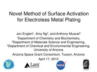Novel Method of Surface Activation for Electroless Metal Plating