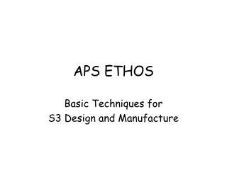 APS ETHOS