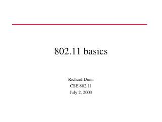 802.11 basics