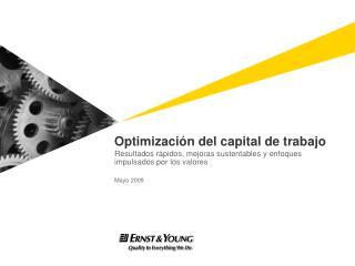 Optimizaci�n del capital de trabajo